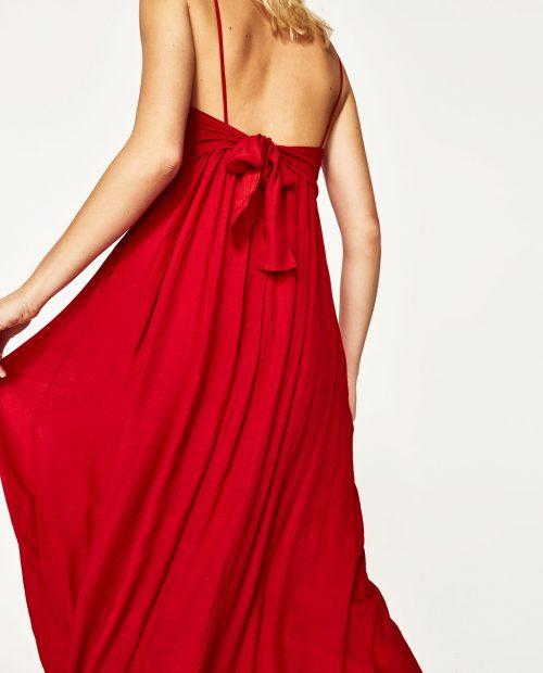 κοκινο-φόρεμα- με φιόγκο29,95 Ζara 2017