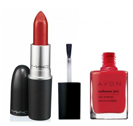 Mac-Avon-lips-nails-red-valentine