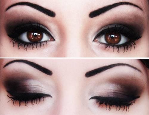 makeup-brown-smoky-eyes