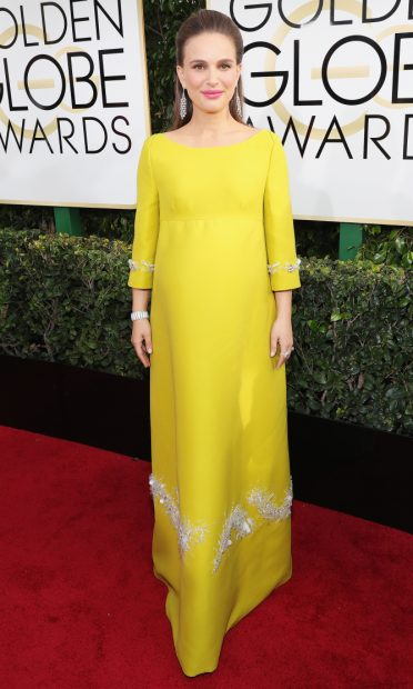 BEVERLY HILLS, CA - JANUARY 08: 74th ANNUAL GOLDEN GLOBE AWARDS -- Pictured: Actress Natalie Portman arrives to the 74th Annual Golden Globe Awards held at the Beverly Hilton Hotel on January 8, 2017. (Photo by Neilson Barnard/NBCUniversal/NBCU Photo Bank via Getty Images)