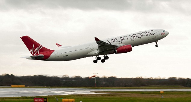 Virgin Atlantic Airways Airbus A330-343 Airliner G-VSXY Taking Off From Manchester International Airport England United Kingdom. Image shot 2012. Exact date unknown.